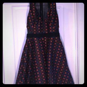 ABS Schwartz - Red & Black Party Dress